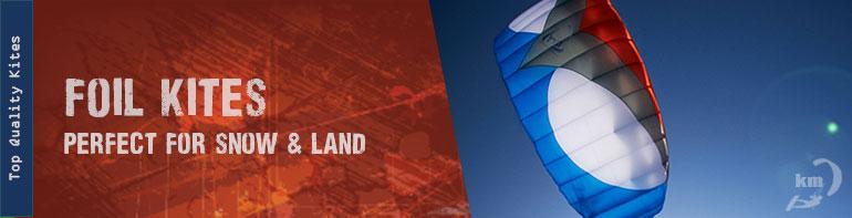 Foil Kites for Snowkiting & Land