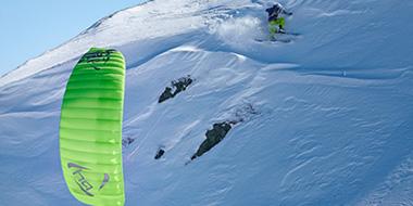 Snowkiting - Kitemare